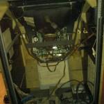 Zaccaria arcade cabinet, backside