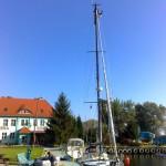 In Stettin, Vorbereitungen zum Mastlegen